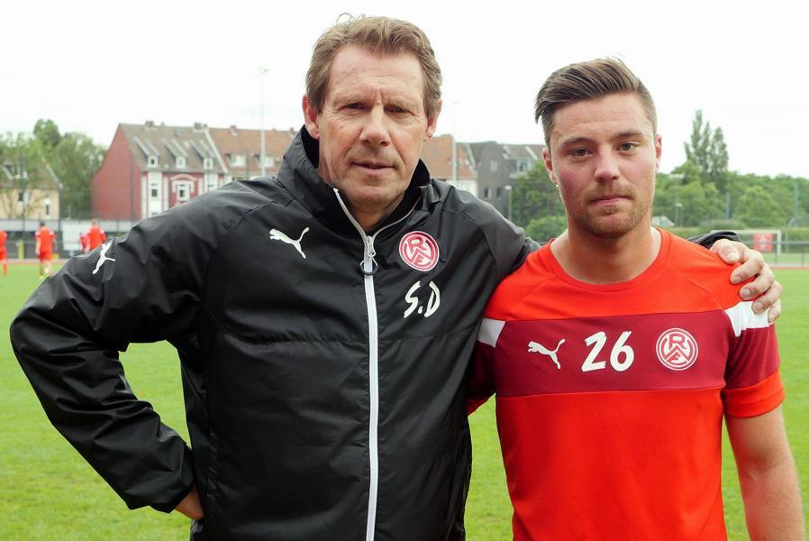 Erstes Testspiel in Essen: Trainer Sven Demandt und Rückkehrer Timo Brauer. Foto: Gohl